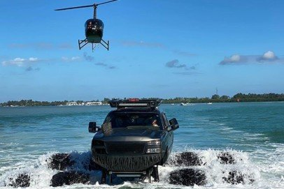 VIDEO: WhistlinDiesel Takes Monstermax Truck Into The Gulf Of Mexico