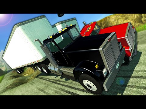 Insane Diesel Truck Downhill Races & Crashes! - BeamNG Gameplay Race & Crashes