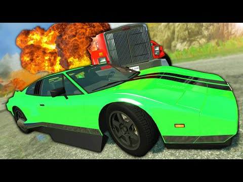 Racing Fast Cars Against EXPLOSIVE Diesel Tankers! - BeamNG Gameplay Race & Crashes