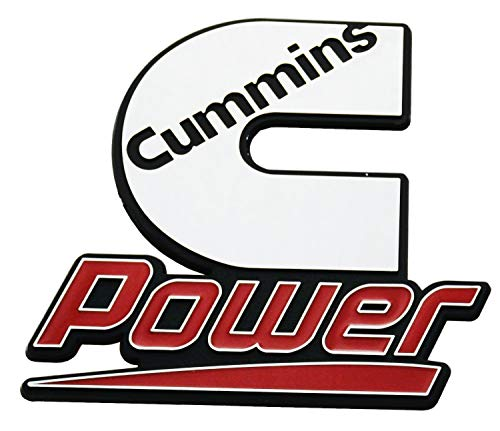 1Pcs Cummins emblem decal stickers power diesel badge (Chrome/Red) - DieselTrucks.com