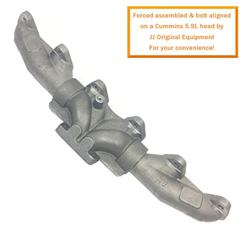 12V CRACK ELIMINATING Exhaust Manifold 1989-1998 5.9L Cummins Dodge RAM Diesel - DieselTrucks.com