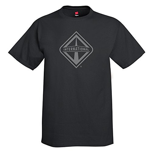 International t Shirt semi Truck Diesel Short Sleeve Gear Logo Black Medium - DieselTrucks.com