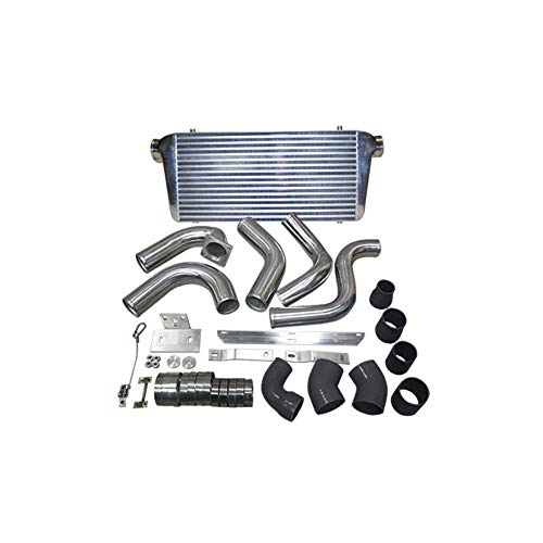 CXRacing FMIC Front Mount Intercooler + Piping kit For 89-91 Dodge Ram Cummins 5.9L Diesel black hose - DieselTrucks.com