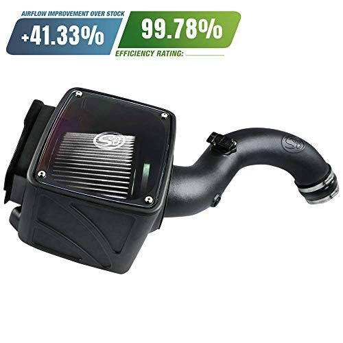 S&B Filters 75-5102D Cold Air Intake For 2004-2005 Chevy/GMC Duramax LLY 6.6L (Dry Extendable Filter) - DieselTrucks.com