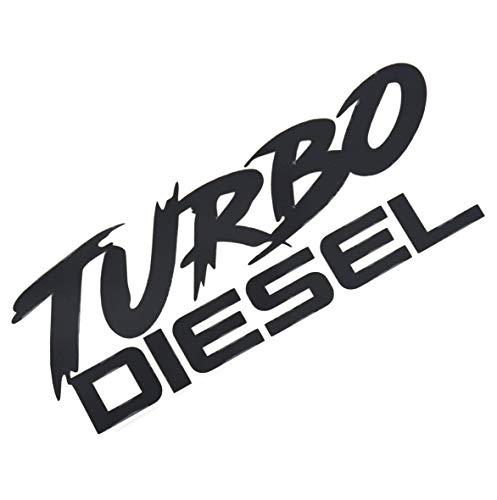 EmbRoom Turbo Diesel Decal Decal Sticker- Peel and Stick Sticker Graphic - - Auto, Wall, Laptop, Cell, Truck Sticker for Windows, Cars, Trucks (Black) - DieselTrucks.com
