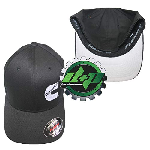 Cummins Flexfit Flex Fit Fitted Hat Dodge Diesel Black s/m - DieselTrucks.com