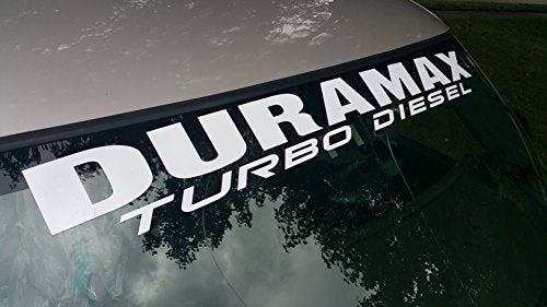 "UNDERGROUND DESIGNS Duramax Windshield Decal Turbo Diesel Banner Sticker 4.5"" x 40"" Any Color: (Matte White, 4.5"" x 40"") - DieselTrucks.com"