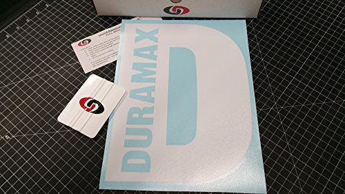 "UNDERGROUND DESIGNS Duramax 9""x12"" Rear Window Decal Kit Gloss White - DieselTrucks.com"