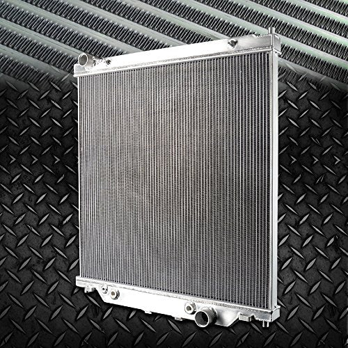 2 Row Core Aluminum Racing Radiator Stop Leak For FORD F250 F350 F450 6.0L Powerstroke 2003 2004 2005 2006 2007 AT/MT - DieselTrucks.com