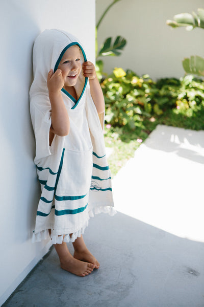 Kindhood Luxury Kids Towel Poncho Strands