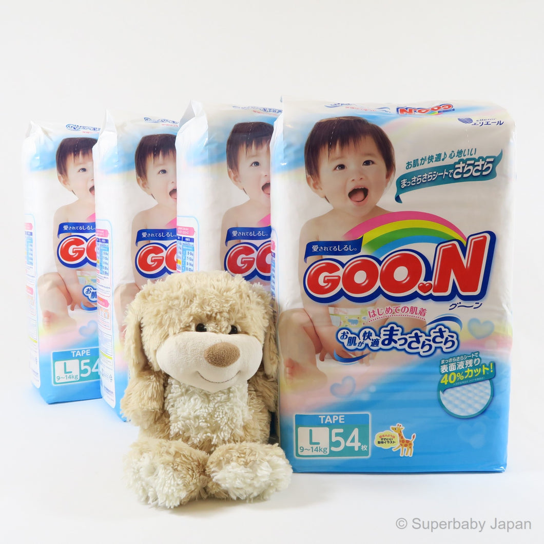 GOO.N nappies - Large - 216 pieces (4 pack carton) - Superbaby Japan