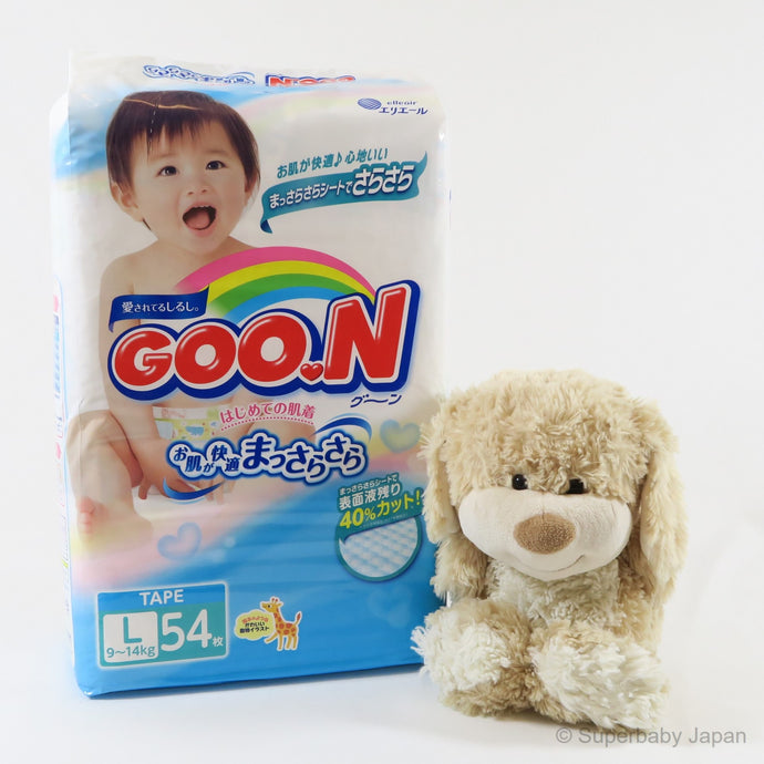 GOO.N nappies - Large - 54 pieces (single pack) - Superbaby Japan