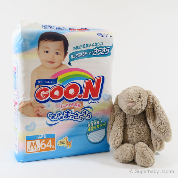 GOO.N nappies - Medium - 64 pieces (single pack) - Superbaby Japan