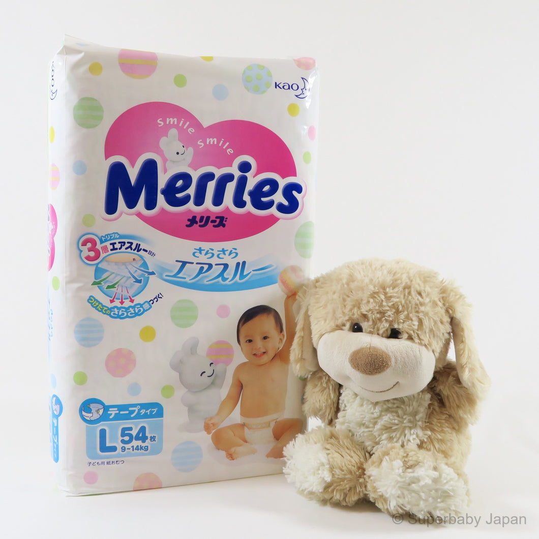 Merries nappies - Large - 54 pieces (single pack) - Superbaby Japan