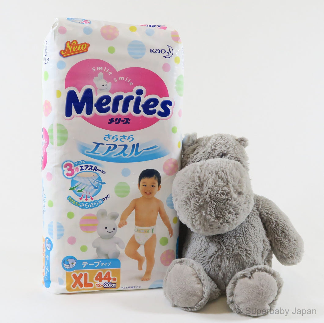 Merries nappies - XLarge - 44 pieces (single pack) - Superbaby Japan