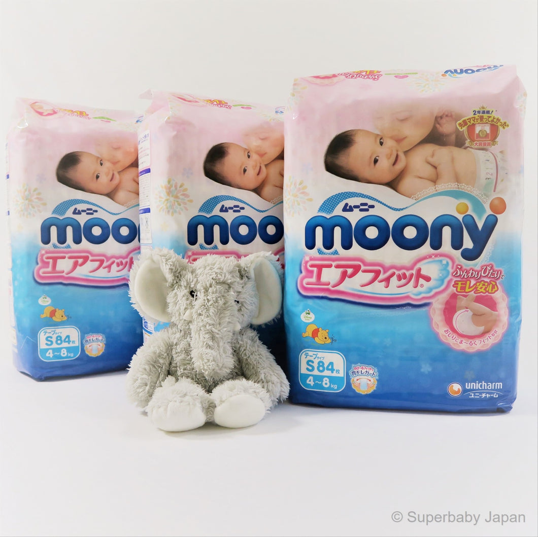 Moony nappies - Small - 252 pieces (3 pack carton) - Superbaby Japan