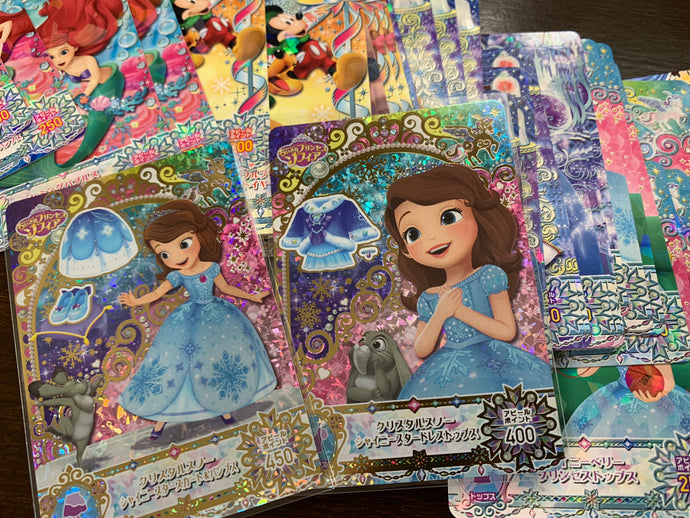 DISNEY MAGIC CASTLE Crystal Season cards are available