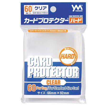 YANOMAN CARD PROTECTOR CLEAR 66 x 92 mm / 60