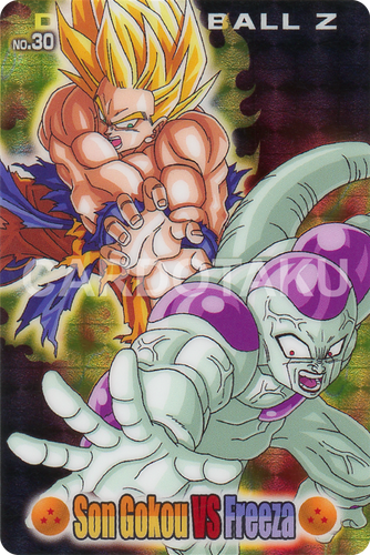DRAGON BALL GUMI card 2006 Part 2 NO.30 Son Goku, Frieza