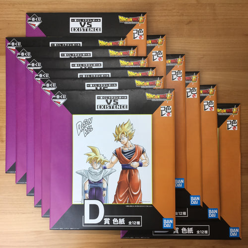 Ichiban Kuji Dragon Ball VS EXISTENCE full 12 shikishi set