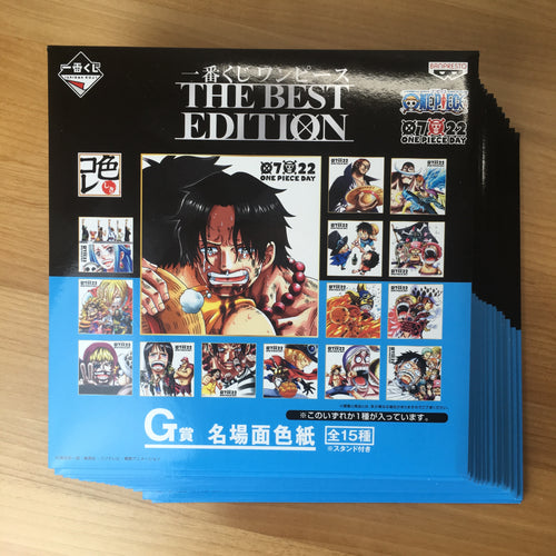Ichiban Kuji One Piece THE BEST EDITION full 15 shikishi set