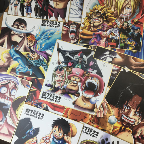 Ichiban Kuji One Piece THE BEST EDITION full 15 shikishi set (witout packaging)