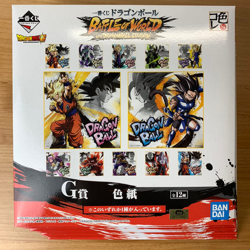 Ichiban Kuji Dragon Ball BATTLE OF WORLD with DRAGONBALL LEGENDS full 12 shikishi set