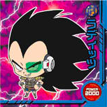 DRAGON BALL Seal Wafers W10-07 N Raditz
