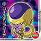 DRAGON BALL Seal Wafers W10-10 R Golden Frieza