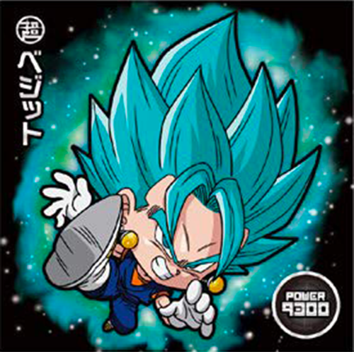 DRAGON BALL Seal Wafers W11-08 BR Vegetto
