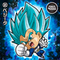 DRAGON BALL Seal Wafers W11-09 BR Vegeta