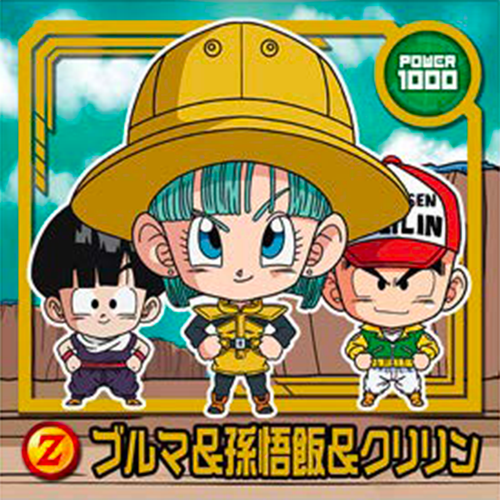 DRAGON BALL Seal Wafers W11-11 N Bulma & Son Goku & Krillin