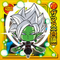 DRAGON BALL Seal Wafers W8-07 SR Zamasu (Gattai)