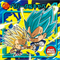 DRAGON BALL Seal Wafers W9-02 N Vegeta & Kyabe