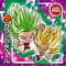 DRAGON BALL Seal Wafers W9-05 R Caulifla & Kale