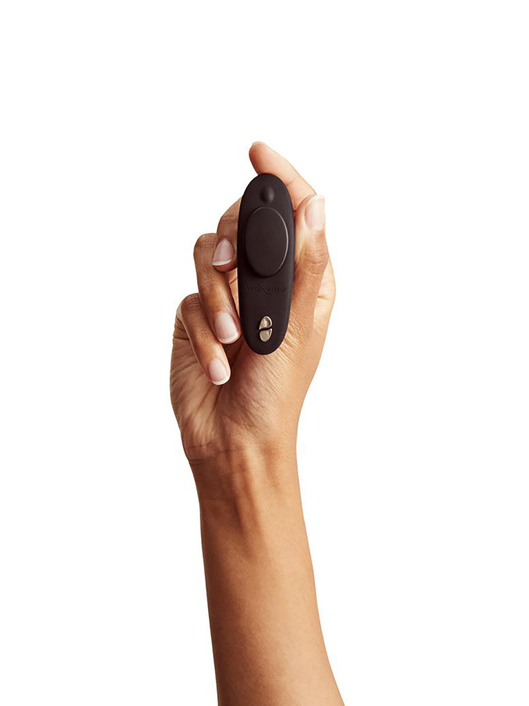 Turn your own panties into Vibrating Panties with We Vibe Moxie Wearable 10 Function Remote Control Silicone Clitoral Vibrator with Magnetic Clip and App Control