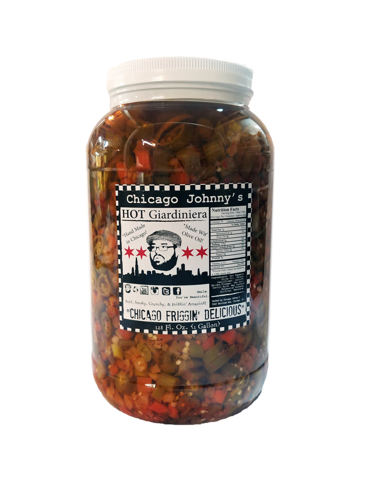 gallon of giardiniera in olive oil