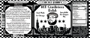 chicago johnnys hot giardiniera relish label made in chicago