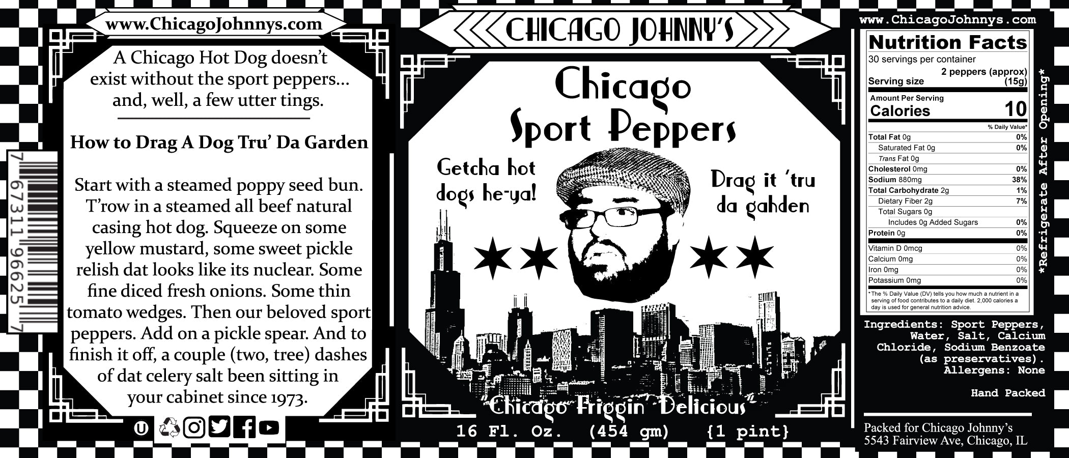 chicago johnnys sport peppers label