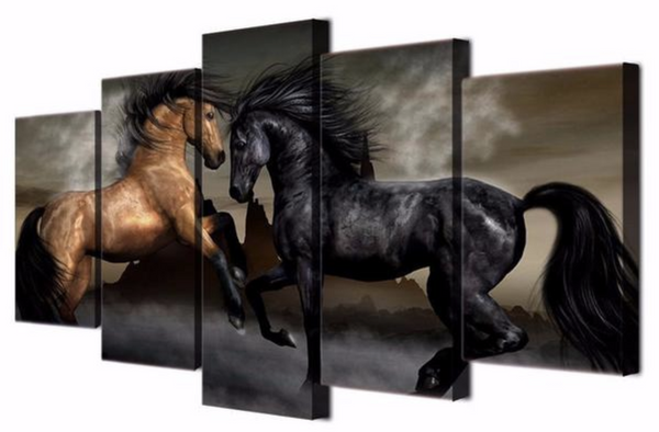 The Most Popular Multi Panel Horses Canvas Art