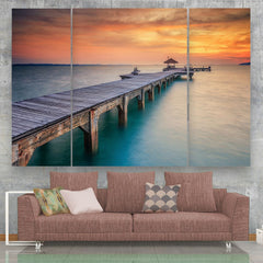 3 panel Seascape Canvas Wall Art by Panelwallart.com
