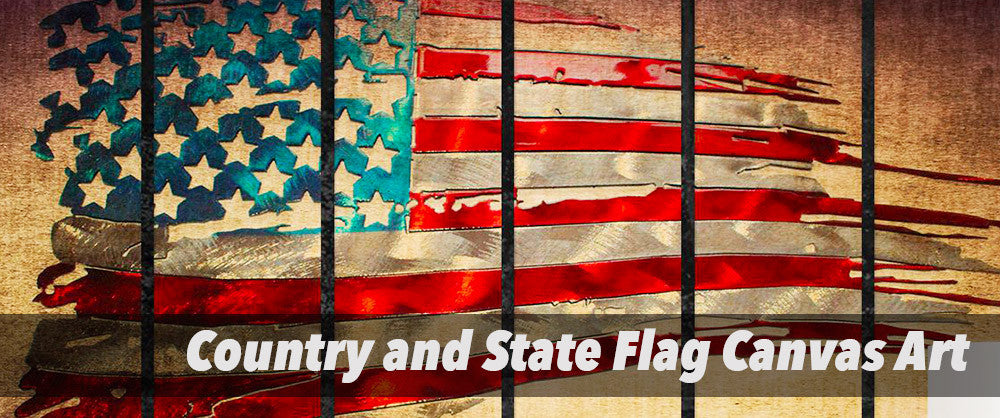 Country Flag and State Flag Canvas Art Prints | Flag Collection | PanelWallArt.com