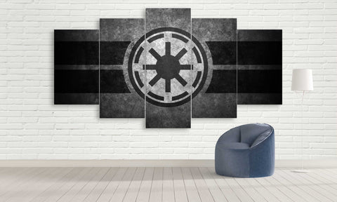 5 Panel Galactic Republic Symbol from Star Wars
