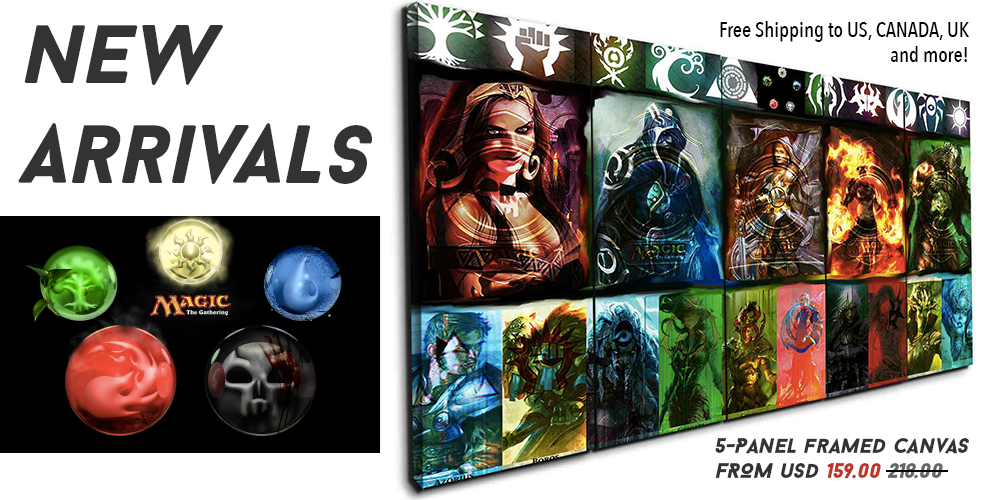 MTG Magic: The Gathering Canvas Wall Art by panelwallart.com