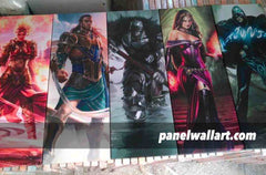 MTG Magic: The Gathering 5 pieces Canvas Wall Art by panelwallart.com