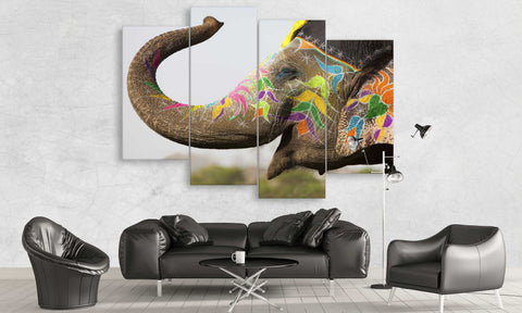 Indian Elephant Canvas Wall Art