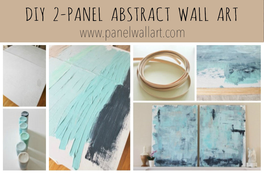 DIY ocean hand painting wall art canvas by panelwallart.com