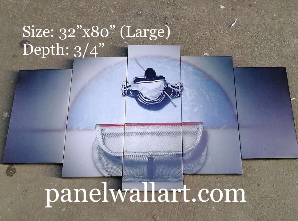 ice hockey goalie goaltender canvas print wall art