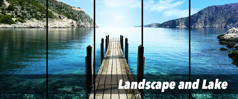 Landscape and Lake | Multi Panel Canvas Wall Art | panelwallart.com