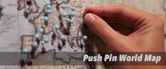 Push Pin World Map Canvas Collections by PanelWallArt.com